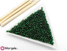 Toho rotunde 11/0 silver line green emerald (5g)