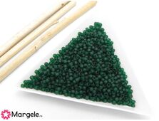 Toho rotunde 11/0 transparent frosted green emerald (5g)