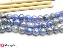 Agate electroplacat 8mm albastru (1buc)