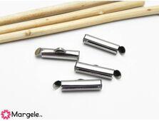 Capat miyuki/toho slide tube otel inoxidabil 16x5.5x4mm (2buc)