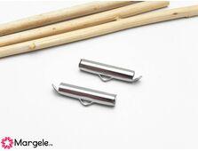 Capat miyuki/toho slide tube otel inoxidabil 20x5.5x4mm (2buc)