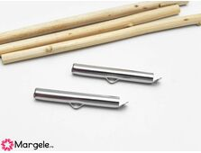 Capat miyuki/toho slide tube otel inoxidabil 30x5.5x4mm (2buc)