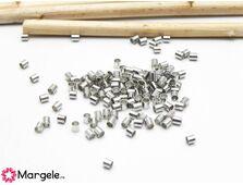 Crimp/opritor tubular 2mm argintiu inchis