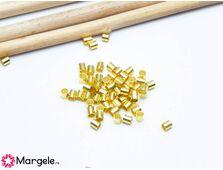 Crimp/opritor tubular 2mm auriu
