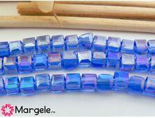 Cristal cub 3mm albastru ab (10buc)