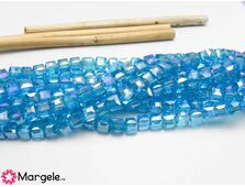Cristal cub 4mm turcoaz ab (10buc)