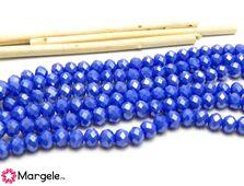 Cristal rondel 6x5mm albastru opac lustered (1buc)