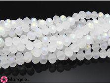 Cristal rondel 6x5mm transparent mat ab (1buc)