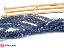 Cristale biconice 3mm iris albastru (10buc)