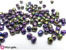 Fire polish 4mm purple iris (20buc)