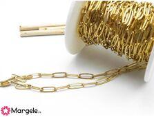 Lant otel inoxidabil auriu 12x4mm (1m)