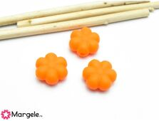 Margele de silicon 14x13mm portocaliu (1buc)