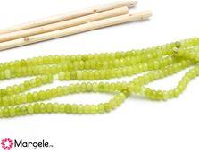 Sirag jad rondel 4x2mm verde mar
