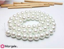 Sirag perle de sticla calitate a 10mm alb