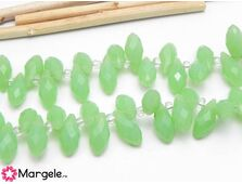 Cristal briolete 12x6mm verde opal (1buc)