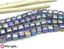 Cristal cub 6mm indigo ab (1buc)
