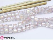 Cristal cub 6mm roz ab (1buc)