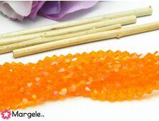 Cristale biconice 4mm portocaliu ab (10buc)