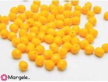 Fire polish 4mm opaque orange (20buc)