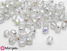 Fire polish 4mm silver lined crystal ab (20buc)