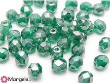Fire polish 6mm luster emerald (10buc)