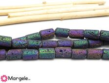Lava 10x6mm mat multicolor