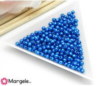 Margele cehia rotunde 3mm metallic galaxy blue (10buc)