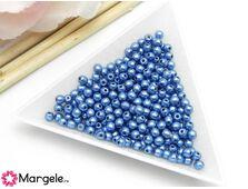 Margele cehia rotunde 3mm metallic little boy blue (10buc)