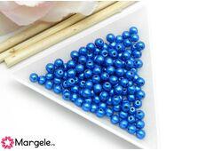 Margele cehia rotunde 4mm metallic galaxy blue (10buc)