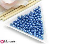 Margele cehia rotunde 4mm metallic little boy blue (10buc)