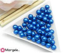 Margele cehia rotunde 6mm metallic galaxy blue (10buc)