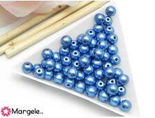 Margele cehia rotunde 6mm metallic little boy blue (10buc)