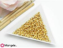 Margele decorative 3mm placate cu aur (10buc)