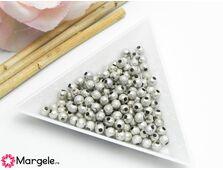 Margele decorative 4mm argintiu inchis (10buc)
