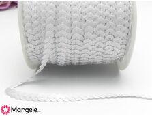 Panglica paiete rotunde 4mm alb (1m)