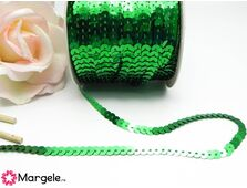 Panglica paiete rotunde 4mm verde (1m)