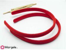 Cordeluta cu material textil 125x11mm rosu