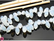 Cristal briolete 12x6mm opal (1buc)
