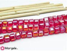 Cristal cub 4mm rosu ab (10buc)