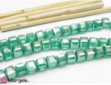 Cristal cub 4mm smarald ab (10buc)