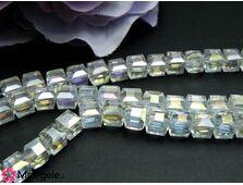 Cristal cub 6mm transparent ab (1buc)
