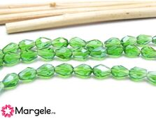 Cristal picatura 6x4mm verde