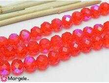 Cristal rondel 10x8mm rosu ab