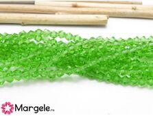 Cristale biconice 4mm verde (10buc)