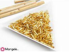 Margele de nisip rasucite 6mm auriu (10g)
