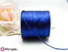 Snur satinat 1mm albastru inchis (1m)