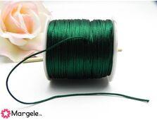 Snur satinat 1mm verde inchis (1m)