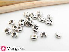 Acoperitor crimp 3mm argintiu inchis (10buc)