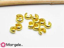 Acoperitor crimp 3mm auriu (10buc)