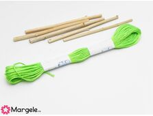 Ata broderie bumbac 1mm verde neon (8m)